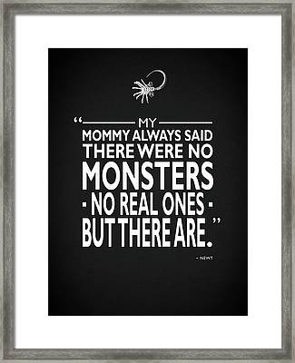 There Were No Monsters Framed Print