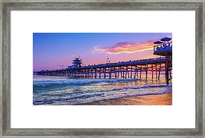There Will Be Another One - San Clemente Pier Sunset Framed Print