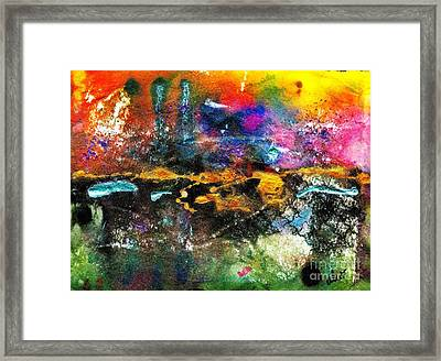 There's A Celebration In The City Framed Print by Angela L Walker