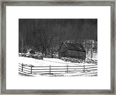 There's A Draft In Here Framed Print by David Waldrop