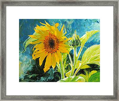 There's A New Bud In Town Framed Print