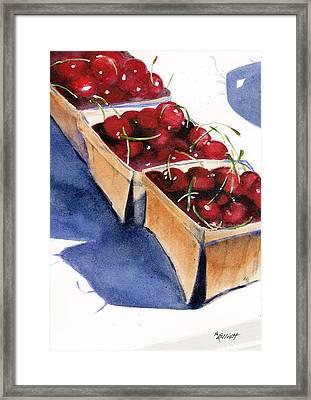 There's A Pie Awaiting Framed Print by Marsha Elliott