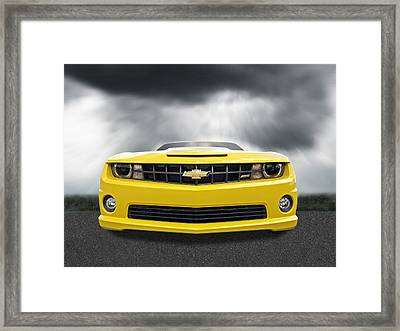 There's A Storm Coming - Camaro Ss Framed Print by Gill Billington