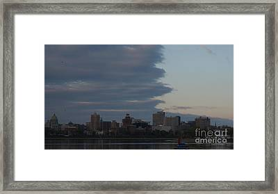 Theres A Storm Rolling In   # Framed Print