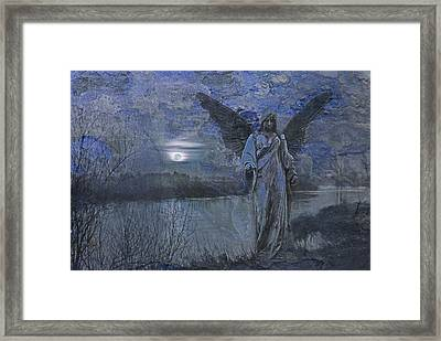 There's An Angel Framed Print