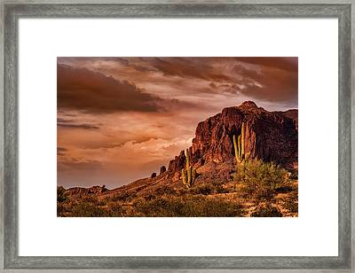 Framed Print featuring the photograph There's Gold In Them Hills  by Saija Lehtonen