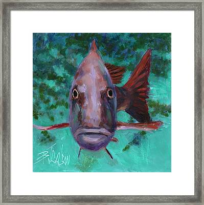 Framed Print featuring the painting There's Something Fishy Going On Here by Billie Colson