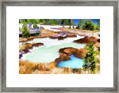 Thermal Pools, West Thumb Ynp Framed Print