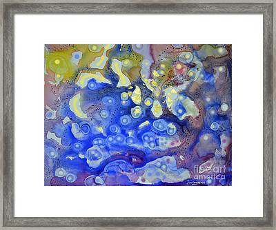 Framed Print featuring the painting Thermal Tapestry by Joan Hartenstein