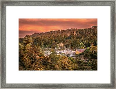 Thermal Village Rotorua Framed Print