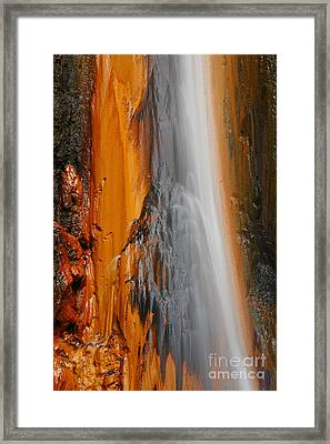 Thermal Waterfall Framed Print by Gaspar Avila