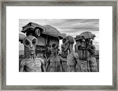 Aliens And Ufo 8 Framed Print by Bob Christopher