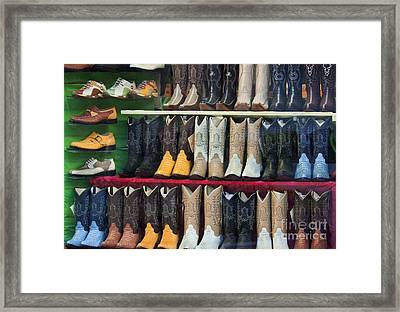 These Boots Are Made For Walkin'... Framed Print by Mark Hendrickson
