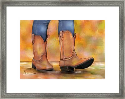 These Boots Are Made For Walkin  Framed Print