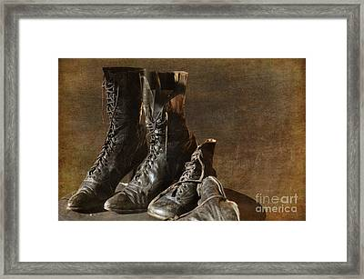 These Boots Are Made For Walking Framed Print by Liane Wright