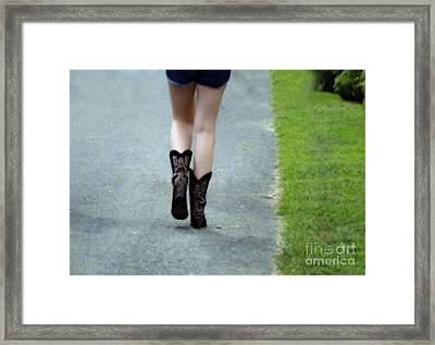 These Boots Are Made For Walking Framed Print by Steven  Digman