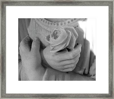 These Hands Framed Print by Barbara Palmer