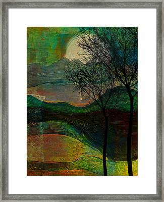 These Hills Framed Print