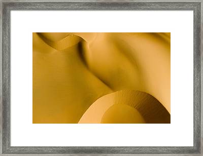 These Luscious Dunes Are Located Framed Print by Michael Fay
