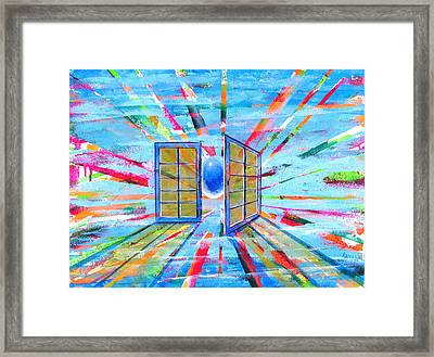 These Open Doors Framed Print by Rollin Kocsis