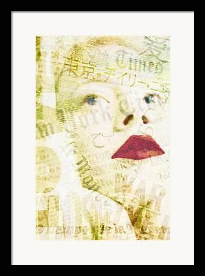 Press Conference Digital Art Framed Prints