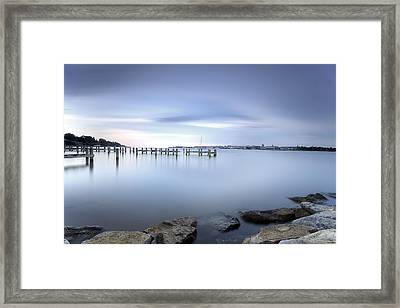 These Waters Are My Canvas Framed Print by Edward Kreis