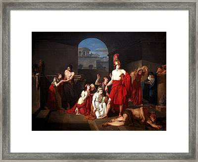 Theseus Victor Of The Minotaur Framed Print by Charles Edouard Chaise