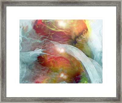 Theta Brain Waves Framed Print by Linda Sannuti