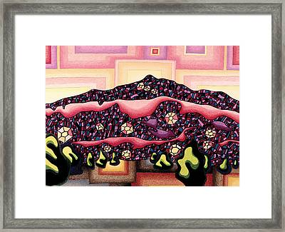 Theta Frequency Framed Print