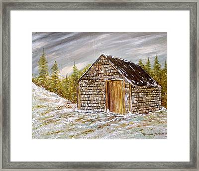 Thewoodshed Framed Print by Norman F Jackson