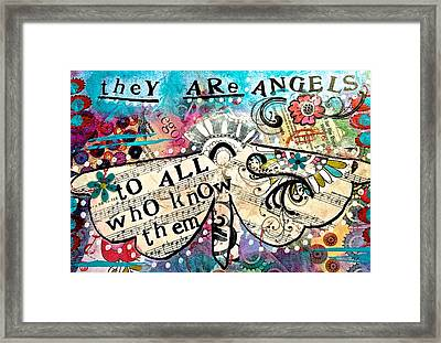 They Are Angels Framed Print