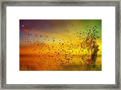 They Call Me Fall Framed Print by Mary Hood