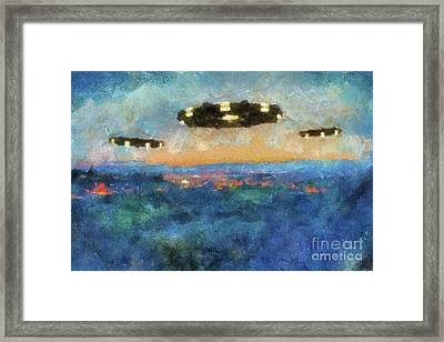 They Came At Dawn By Raphael Terra Framed Print