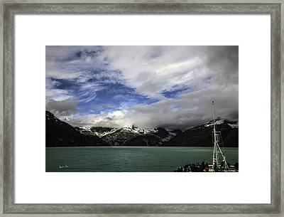 They Came To See The Glacier Framed Print