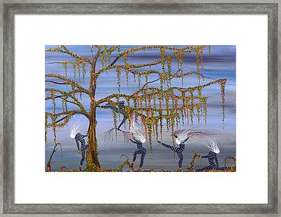 They Danced As Though Her Life Depended On It. Framed Print
