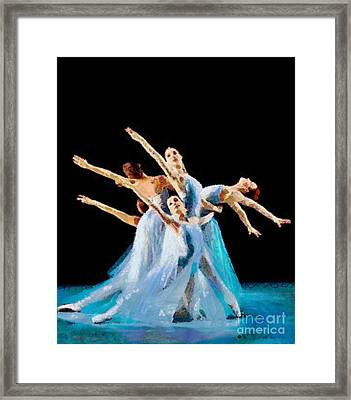 They Danced Framed Print