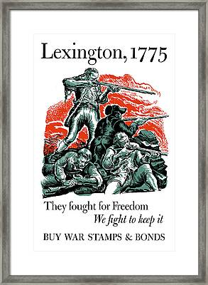They Fought For Freedom - We Fight To Keep It Framed Print by War Is Hell Store