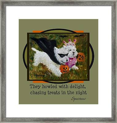 They Howled With Delight Framed Print