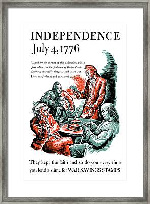 They Kept The Faith - Ww2 Framed Print