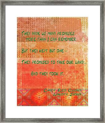 They Made Us Promises Framed Print by Paulette B Wright
