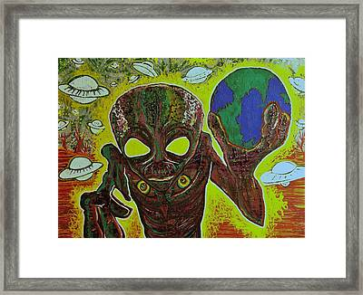 They R Here Framed Print by Ottoniel Lima