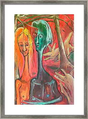 They Saw A Branch With Blood That Kept Dripping Framed Print by Kenneth Agnello