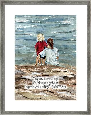 They See The Works Of The Lord  Framed Print