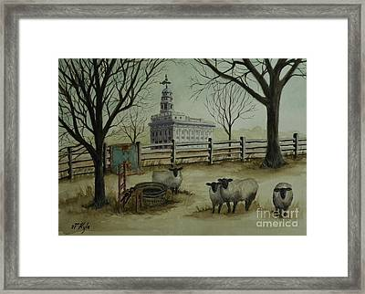 They Shall Be As Wool Framed Print by Thomas Kyle