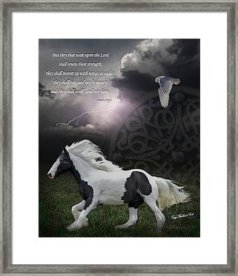 They Shall Run And Not Be Weary Framed Print by Terry Kirkland Cook