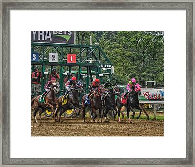They're Off Framed Print