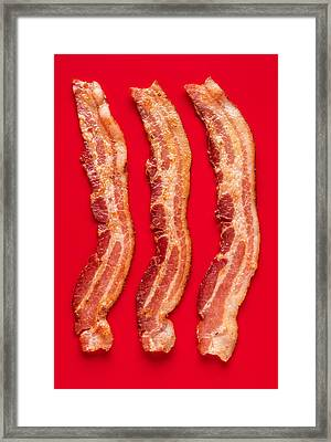 Thick Cut Bacon Served Up Framed Print by Steve Gadomski