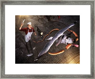 Thief! Framed Print by Christophe Kiciak