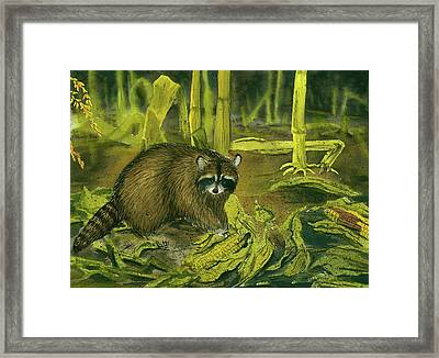 Thief In The Night Framed Print by Bud Bullivant