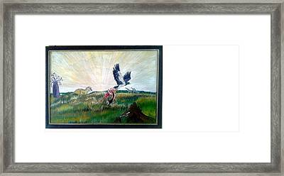 Thieving Eagle Framed Print by Emmanuel Nwogbo